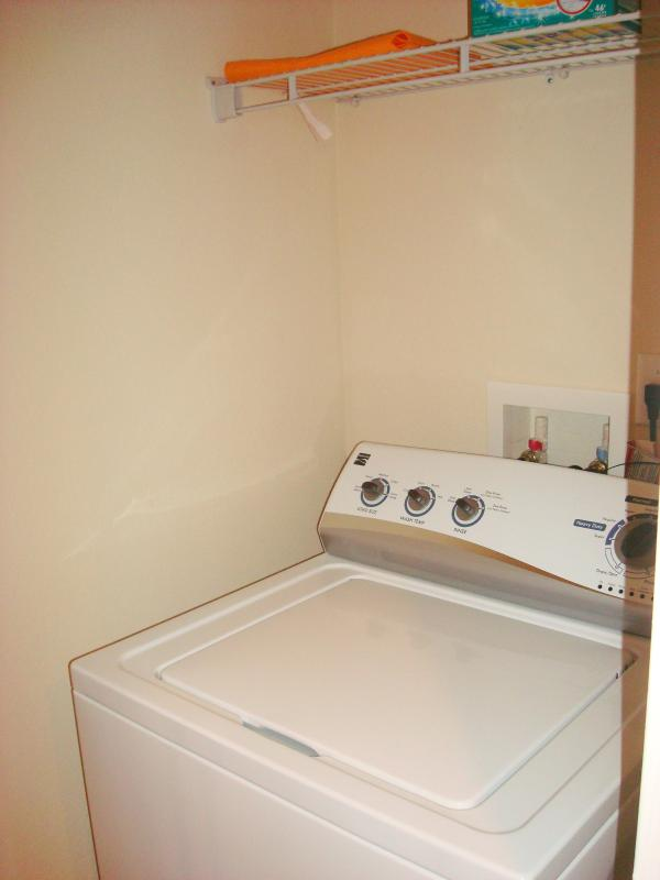Washer and dryer machine within the unit