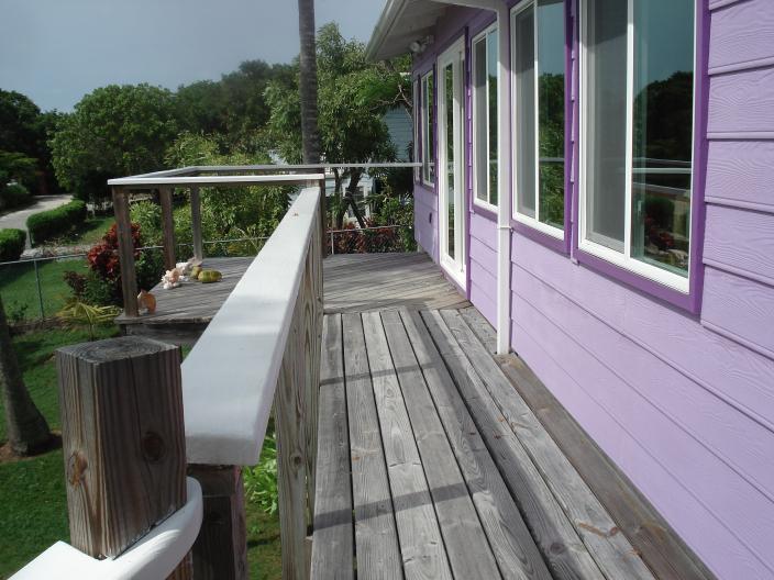 Passerella davanti al soggiorno finestre, 10'x 12' ponte all'estremità della passerella