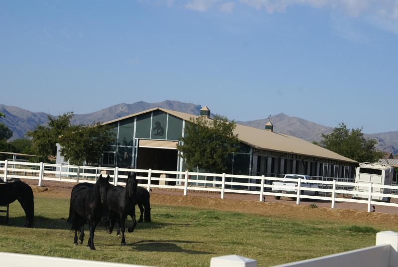 Étable principale sur le Ranch
