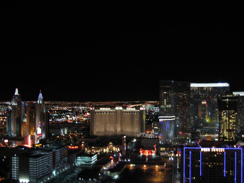 Amazing strip view from penthouse balcony