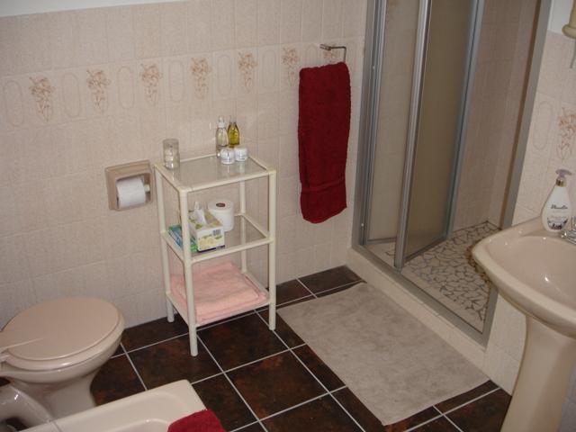Bathroom with bath & separate shower
