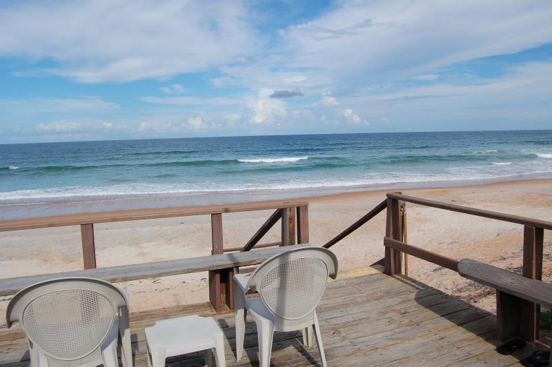 Enjoy our private ocean deck - Mako Beach Surf House