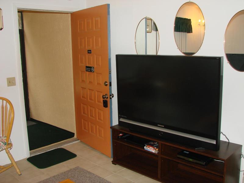 TV de pantalla plana en la sala de estar