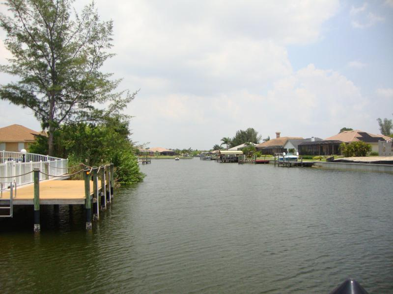 Canal behind the house