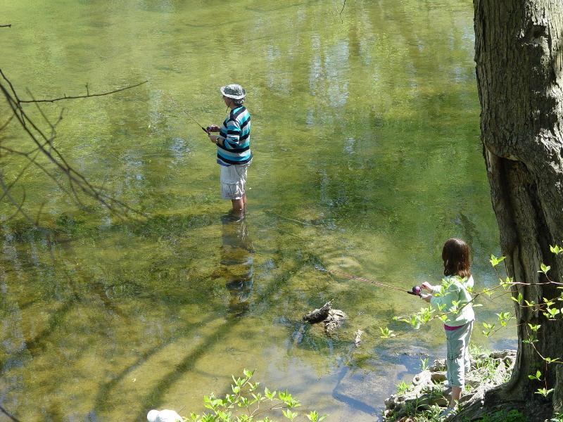 Family fun on Sugar Creek