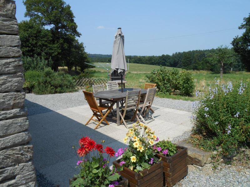 BBQ terrace with far reaching rural views