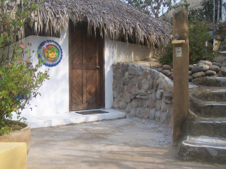 Palapa Mar entrance and stairs to upper gate.