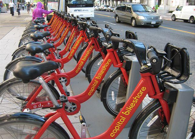 Capital BikeShare rental rack