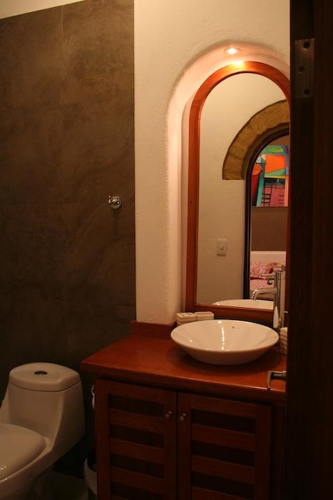 Bathrooms are tiled, new and elegant.