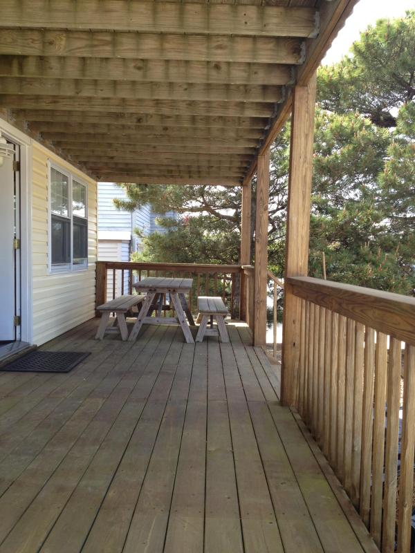 Over sized front deck