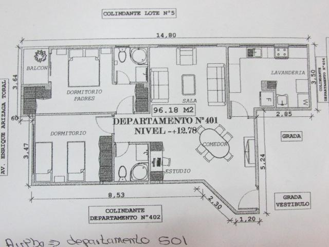 Distribution of the apartment
