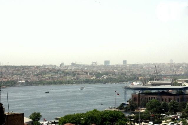 view of the Golden Horn from the living room window.