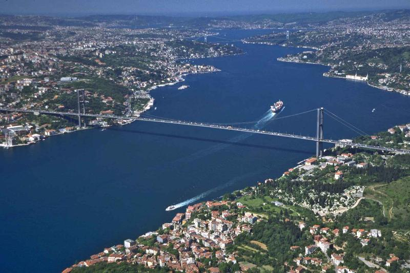 Bosphorus Bridge which connects Europe and Asia