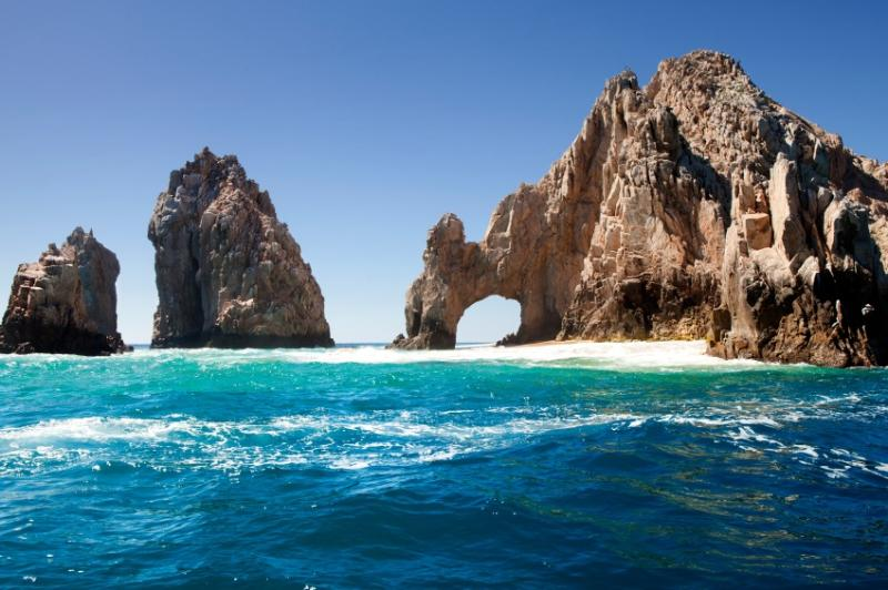 The famous 'los arcos' in Cabo San Lucas
