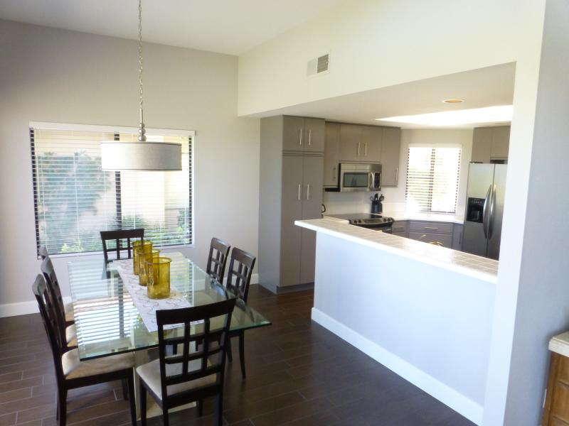 Newly renovated kitchen.  Spacious dining room.