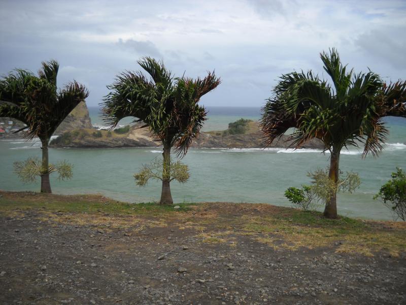 Océano Atlántico - vista de Costa de Dennery