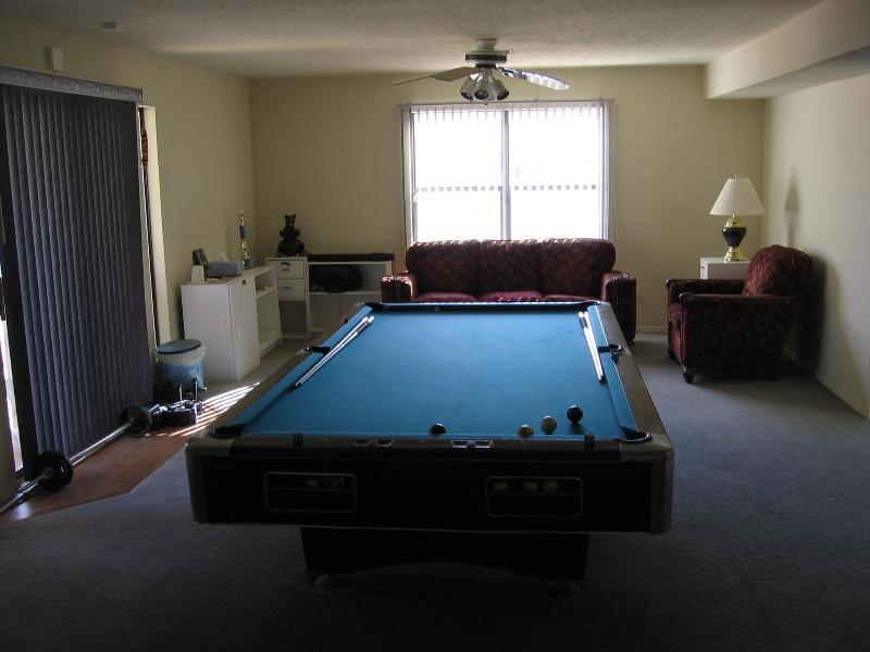 GREATROOM WITH POOL TABLE-LOOKING SOUTH