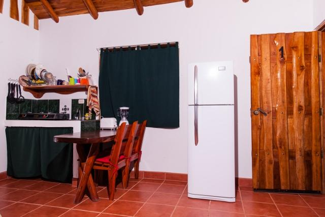 Kitchenette with full size fridge