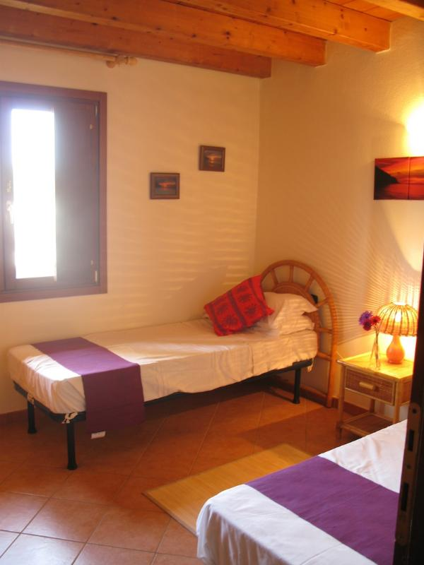 The downstairs twin bedroom