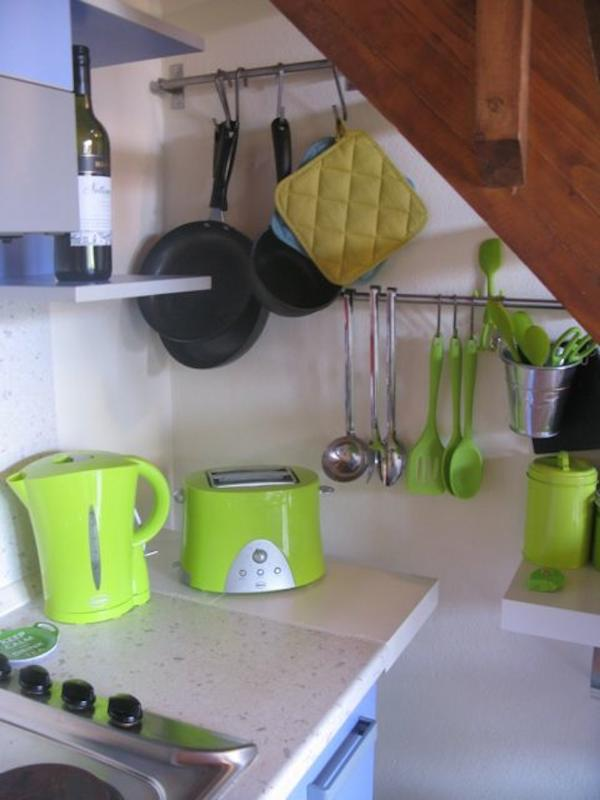 The Kitchen area with UK Swan appliances