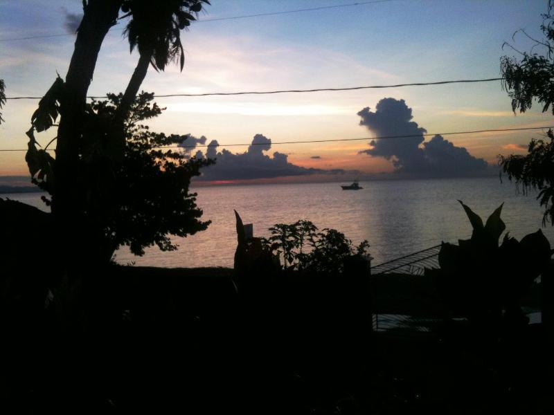 Sonnenuntergang von der villa