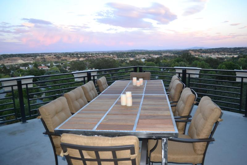 Hilltop365. View from the second story deck - The city of Paso Robles.