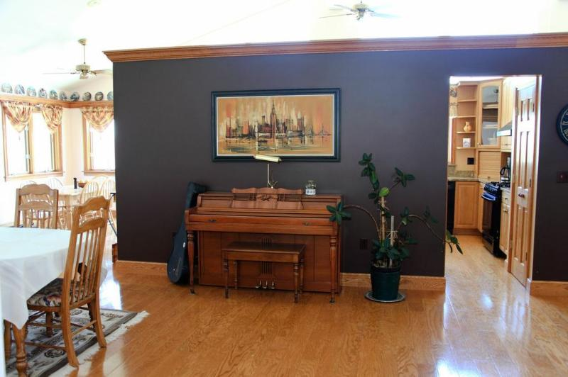 Piano off dining room