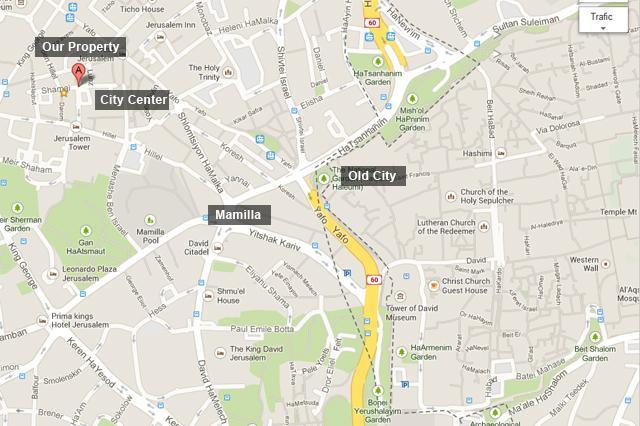 City center Map - Shamai Street