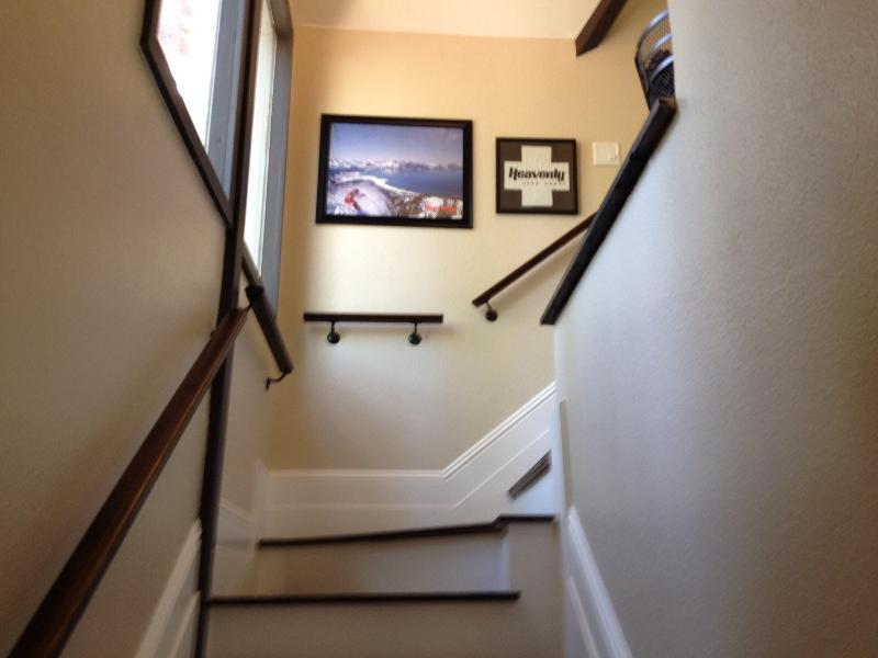 Stairway to master bedroom, bath and lounge
