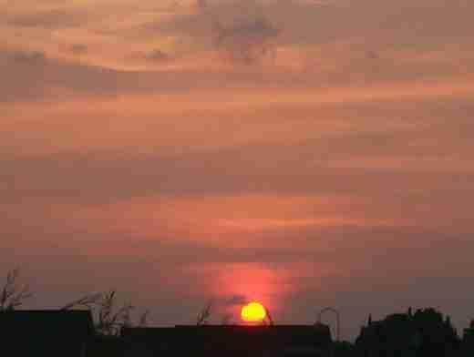 Ver la puesta de sol desde su terraza
