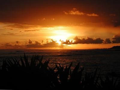 Fantastic Sunset From the Lanai!