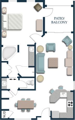 1 Bedroom Premium Floorplan