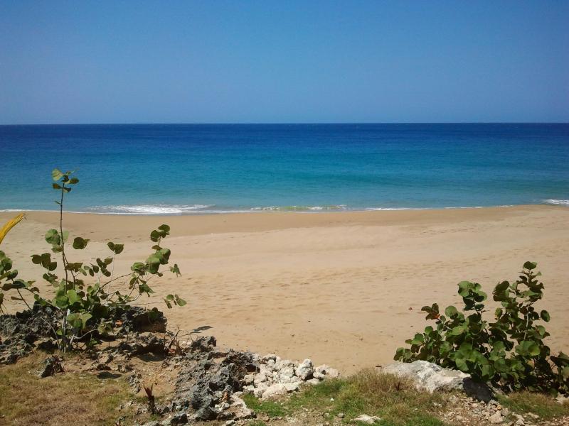 Vista da praia da piscina