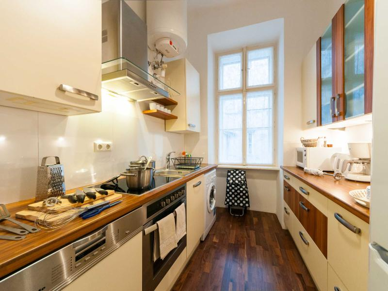 Very well equipped kitchen, designed with longer stays in mind