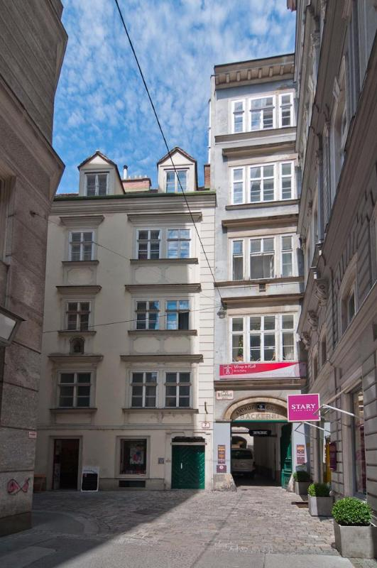 Our building seen from the Kleeblattgasse