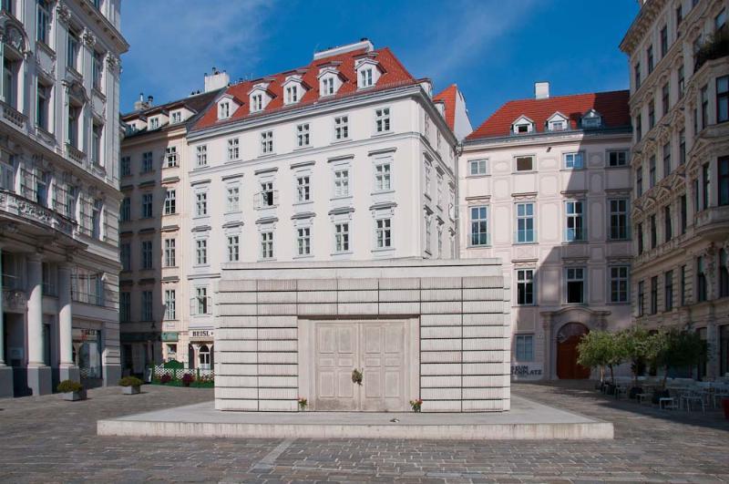 Judenplatz and memorial, out the door :-)