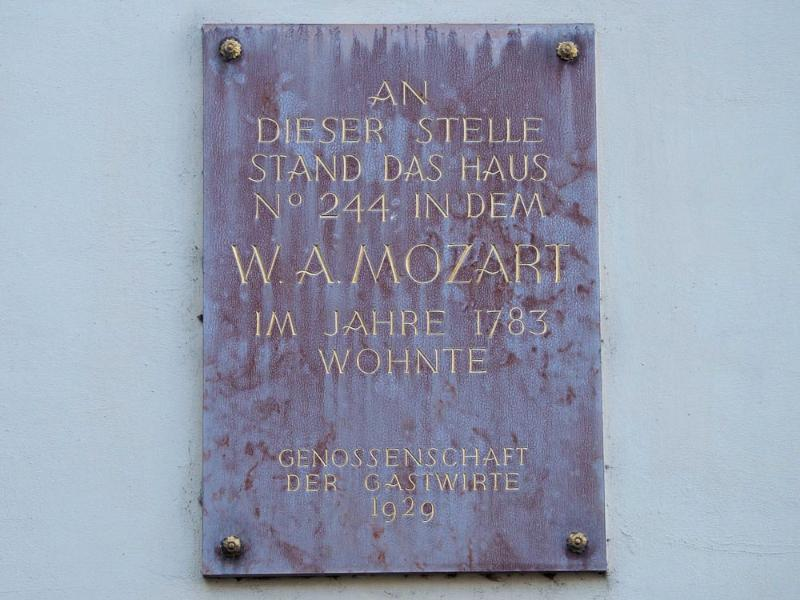 Mozart used to live across the street