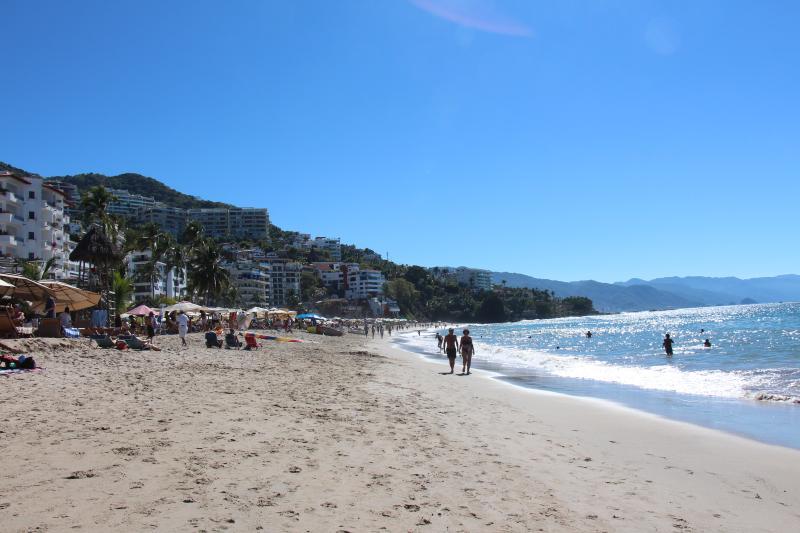 Walk 2 blocks to sit on Los Muertos Beach, relax and enjoy a Margarita