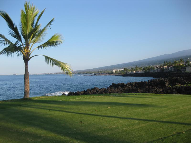 On the golf course in front of my condo looking north toward Kahaluu Bay
