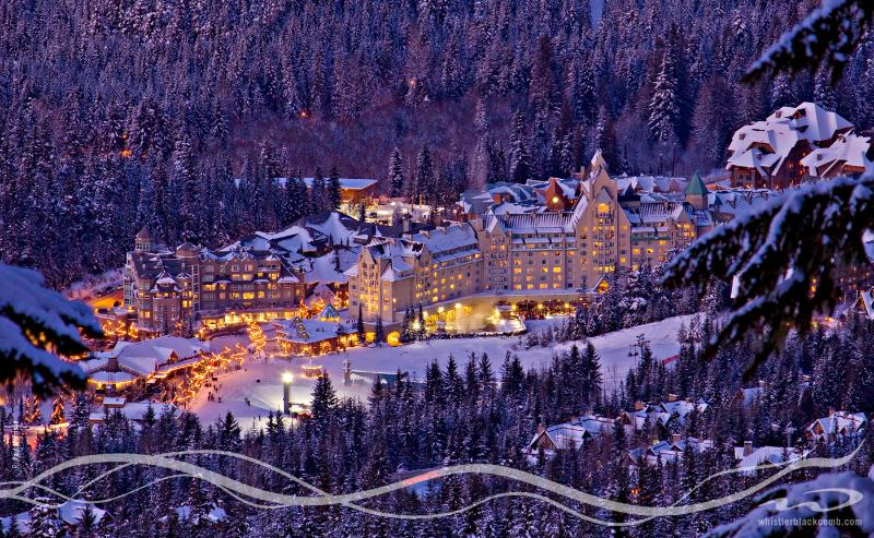 Upper Village/Blackcomb Chair/Fairmont Chateau Whistler Hotel..200 metres from our condo
