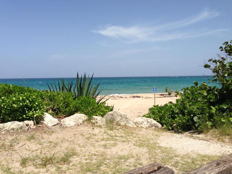 Accès privé à la plage