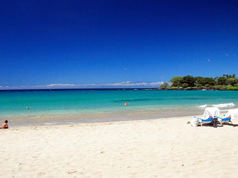 Most beautiful and safest beach in Hawaii, just minutes away at the Mauna Kea