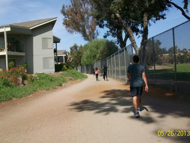 Jogging trail around golf course