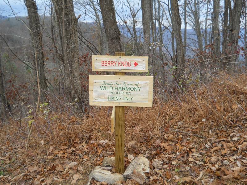 Wandelroutes zijn voor gasten van Wild harmonie.