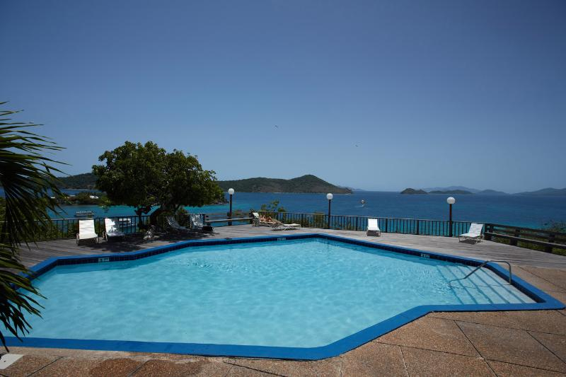 The mid-level pool (pool 2 of 3).  In our opinion, the best view of the 3 pools.