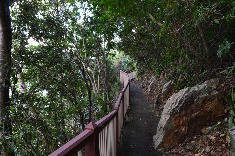The nature trail that will lead you to Sugar Beach