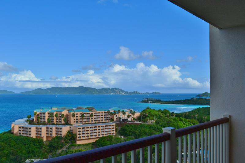 View to the right when standing on our balcony (looking down on the Sugar Bay resort)