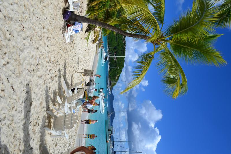 A quick picture of Jost Van Dyke, the closest of the British Virgin Islands.  A fun ferry day trip.