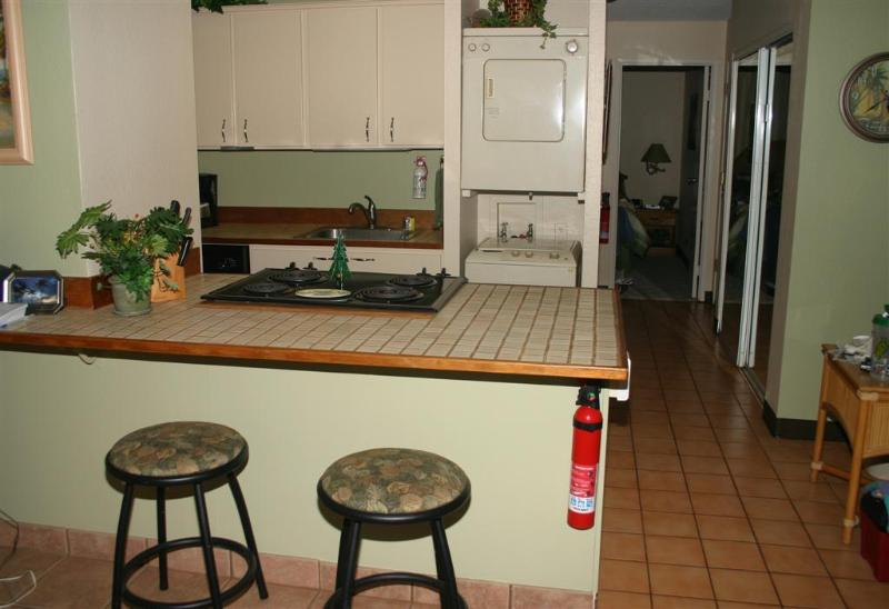 Fully equipped kitchen; you can (and we have) cook a full Thanksgiving Day dinner here!