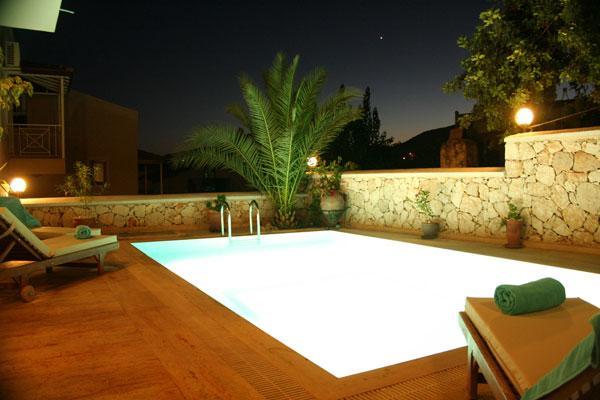 Het zwembad bij nacht